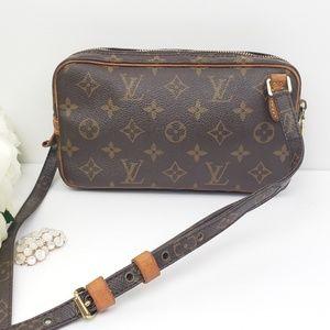 Authentic Louis Vuitton Pochette Marly Bandoliere